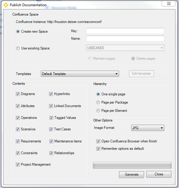 Custom Templates - EA Connector for Confluence 2.0.x - Confluence